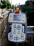 H4572 : Spreader controls, Omagh by Kenneth  Allen