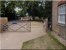TM0458 : Entrance gates at The Museum of East Anglian Rural Life by Michael Trolove