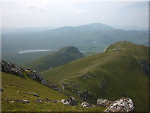 NC5748 : The ridge west of Beinn Bheag by Karl and Ali