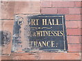 NS5964 : Court Hall sign by Barbara Carr