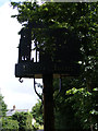 TM3067 : Badingham Village sign by Adrian Cable