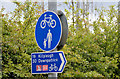 J4669 : National Cycle Network sign, Comber by Albert Bridge