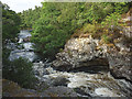 NH5799 : The River Shin above Shin Falls by Karl and Ali