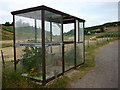 NC6762 : A novel use for a redundant bus shelter, Torrisdale by Karl and Ali