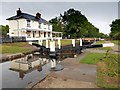 SK3229 : Stenson Lock and Cottage, Trent and Mersey Canal by David Dixon