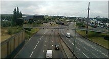 TQ1983 : North Circular Road, from the railway crossing at Stonebridge Park by Christopher Hilton