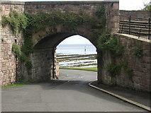 NU0052 : Pier Road heading under the bridge by James Denham
