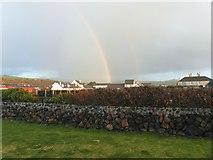NX0882 : Double rainbow over Ballantrae by Ann Cook