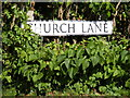 TM3281 : Church Lane sign by Adrian Cable