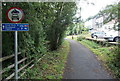 SO1603 : Cycle route distances from Hollybush by Jaggery