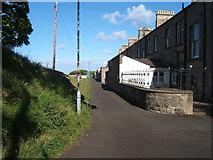 NU0052 : Back lane, Devon Terrace by Barbara Carr