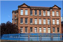 NS5564 : Ibrox Primary School, Hinshelwood Drive by Leslie Barrie