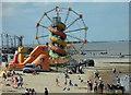 TA3009 : Beach funfair and of course Donkeys by Steve  Fareham