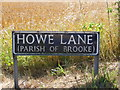 TG2800 : Howe Lane sign by Geographer