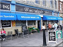 NZ3668 : Wm Wight Grocer Shop, Union Quay, North Shields by Andrew Curtis
