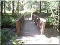 NO7496 : Wooden footbridge over the Burn of Coy by Stanley Howe