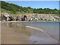NZ8613 : Sandsend, low tide by Pauline E