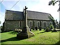 TF3469 : The church and war memorial, Hagworthingham by Christine Johnstone