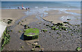 NZ8612 : Sandsend Beck joins the North Sea by Pauline E