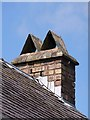 NY3684 : An unusual chimney stack at Langholm by Walter Baxter