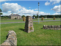 NT7233 : The Bicentenary Cairn at Springwood Park, Kelso by Walter Baxter