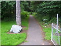NS7956 : Coltness Woodlands entrance by Ross Watson