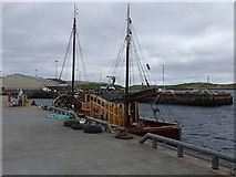 HU4039 : Boat in Scalloway Harbour by Oliver Dixon