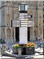TL8564 : The Pillar of Salt Road Sign, Bury St Edmunds by David Dixon