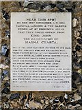TL8564 : Magna Carta Tablet, Bury St Edmunds Abbey by David Dixon