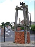 NZ3668 : 'Dolphin Mooring Post', Union Road, North Shields by Andrew Curtis