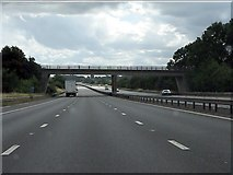 SP4795 : Stanton Road bridge, M69 by Peter Whatley
