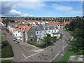 NT9952 : Looking into Tweedmouth from the Royal Tweed Bridge by Graham Robson