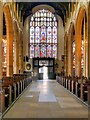 TL8563 : St Mary's Church, Nave and Great West Window by David Dixon