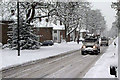 TQ2936 : Worth Road in the snow by Robin Webster