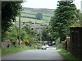 SK1979 : Lane through Abney village by Andrew Hill