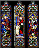 SD6592 : Stained glass window, St Andrew's church, Sedbergh by William Starkey