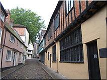 TG2308 : Elm Hill, Norwich by Barbara Carr
