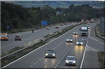 ST0207 : Cullompton : The M5 Motorway by Lewis Clarke