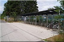 TL4661 : Cycle park - Science Park busway stop by Sandy B