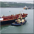 SM9104 : The 'Agena' departing Milford Haven by Rossographer