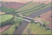 SK8174 : Dunham Bridge: aerial August 2013 by Chris