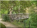 SJ8383 : Wooden Footbridge, Quarry Bank Mill Garden by David Dixon