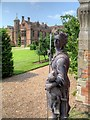 SP2556 : Charlecote Park, Shepherdess Statue in Forecourt by David Dixon