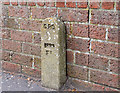 J3974 : GPO cable marker post, Belfast by Albert Bridge