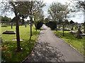 ST9372 : Path through Chippenham Cemetery by Jaggery