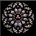 SP2656 : St Leonard's church, Rose Window by David Dixon