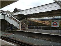 TQ2182 : Platform, Willesden Junction Railway Station by Robin Sones