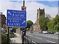 NZ2565 : Jesmond Parish Church from Jesmond Road by Andrew Curtis