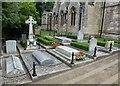 SP4414 : Sir Winston Churchill's grave in Bladon by Richard Humphrey