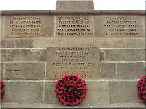 TG0738 : Names on the Holt War Memorial 4 by Helen Steed